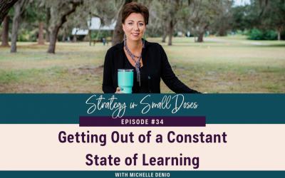 Getting Out of a Constant State of Learning
